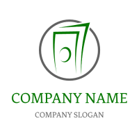 Abstract Money Silhouette Logo Design