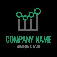 Bar Chart with Growing Progress Logo Design