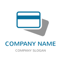 Business & Finance Logo | Blue Credit Card with Shadow