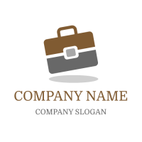Brown and Grey Briefcase Logo Design