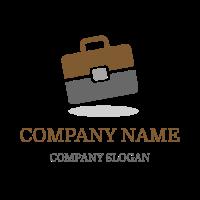 Brown and Grey Briefcase Logo Design