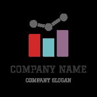 Colored Progressive Bar Diagram Logo Design