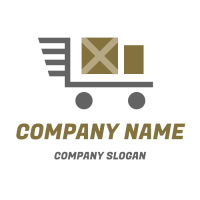 Delivery Packages and Trolly Logo Design