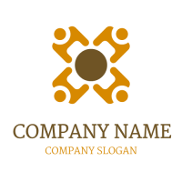 Four People at the Meeting Logo Design