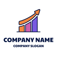 Growing Colorful Diagram Logo Design