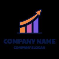Growing Colorful Diagram Logo Design