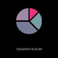 Minimalist Pie Chart Logo Logo Design