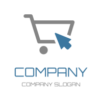 Business & Finance Logo | Shopping Cart and Blue Pointer