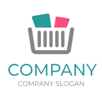 Business & Finance Logo | Shopping Cart with Goods