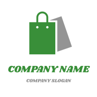 Simple Green Shopping Bag Logo Design