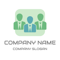 Three Business People with Ties Logo Design