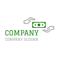 Two White Gloves and a Dollar Logo Design