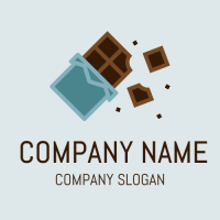 Crunchy Dark Chocolate Bar Logo Design