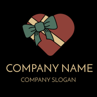 Festive Chocolate Box with Bow Logo Design