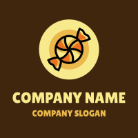 Orange Caramel with Wrapper Logo Design