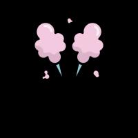 Pink Cotton Candies with Crumbs Logo Design