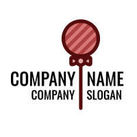 Pink Elegant Berry Lollipop Logo Design