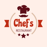 Chef Logo with Hat and Stars Logo Design
