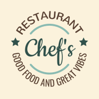 Vintage Chef Logo with Curved Text Logo Design