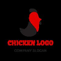 Black and Red Bird Silhouette Logo Design