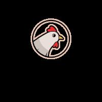 Colorful and Delicious Hen Emblem Logo Design
