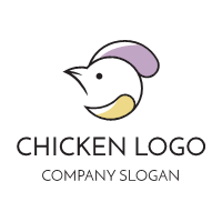 Elegant Bird with Colorful Wings Logo Design