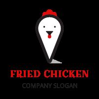 Minimalist Hen Head Silhouette Logo Design