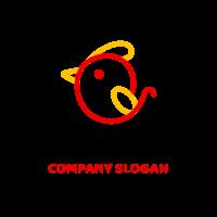 Minimalist One Line Chicken Silhouette Logo Design