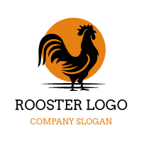 Rooster and Morning Sunrise Logo Design