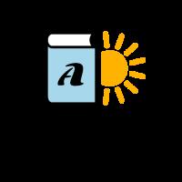 Light Blue Book and Yellow Sun Logo Design
