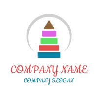 Multi Colored Pyramid for Kids Logo Design