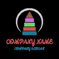 Multi Colored Pyramid for Kids Logo Design
