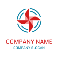 Spinning Red Weather Vane Logo Design