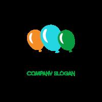Three Multi Colored Balloons Logo Design