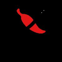 Chili Logo | Black Pepper Knife and Red Chili