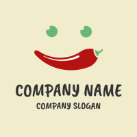 Happy Smiling Chilli Pepper Logo Design