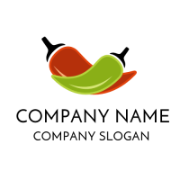 Jalapeno and Chili Peppers Logo Design