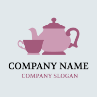Authentic Pink Kettle and Cup Logo Design
