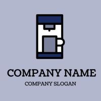 Blue Small Espresso Machine Logo Design