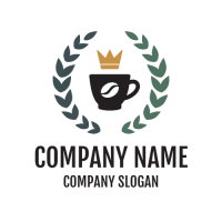 Cup with Crown and Wreath Logo Design