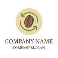 Eco Friendly Coffee Beans Logo Design