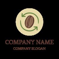 Eco Friendly Coffee Beans Logo Design