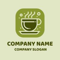 Matcha Tea with Bubbles Logo Design