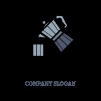 Metal Teapot with Teacup Logo Design