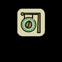 Organic Coffeshop Signage Logo Design