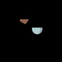 Pouring Teapot and Blue Mug Logo Design