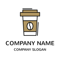 Sustainable Paper Coffee Cup Logo Design