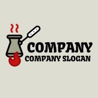 Turkish Coffee on Red Fire Logo Design