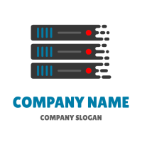 Rack of Routers with Drops Logo Design