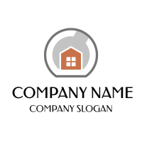 Small House and Big Wrench Logo Design